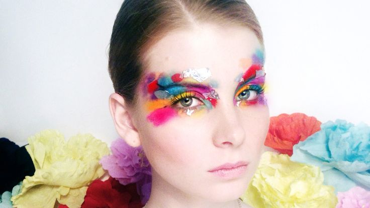 "Colorful Faceart for new collection of jewelry brand ""2littlegirls"""
