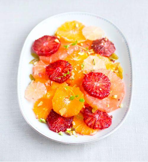 Citrus salad. Orange blossom water