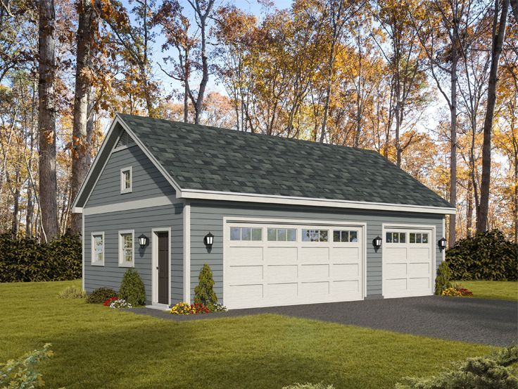 062g 0156 3 Car Garage Plan Or 2 Car Garage With Workshop Garage Workshop Plans 3 Car Garage Plans Garage Plans With Loft