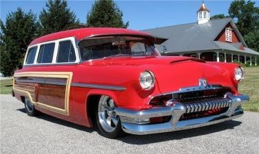 The custom 1954 Mercury Monterey Custom woody wagon
