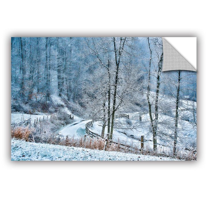 Down A Winter Country Lane by Julie Mann Sperry Wall Mural