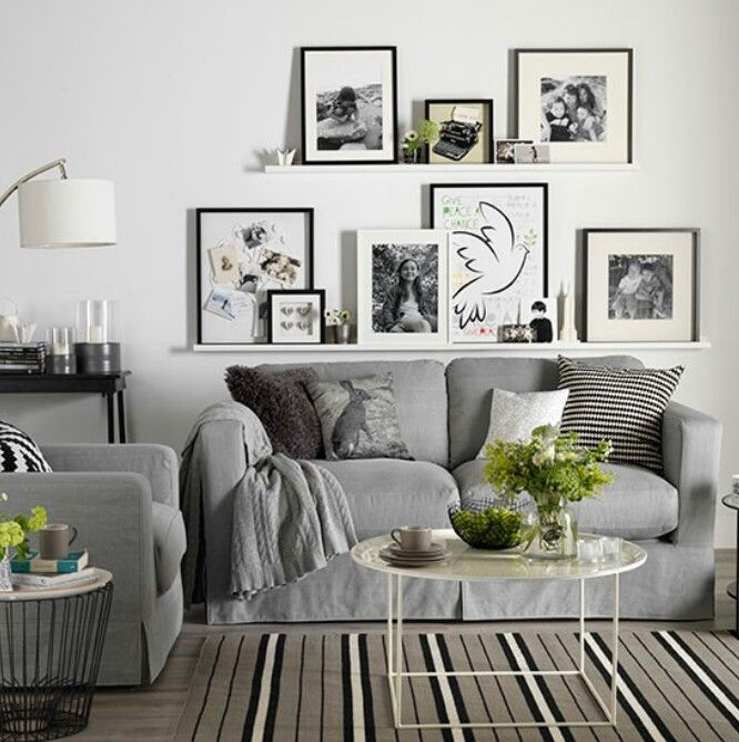 Grey Colour Scheme Wall Paint   Aunty Maud By Fired Earth, Sofa, Coffee  Table · Picture LedgeLiving Room DecorationsWhite ... Part 91