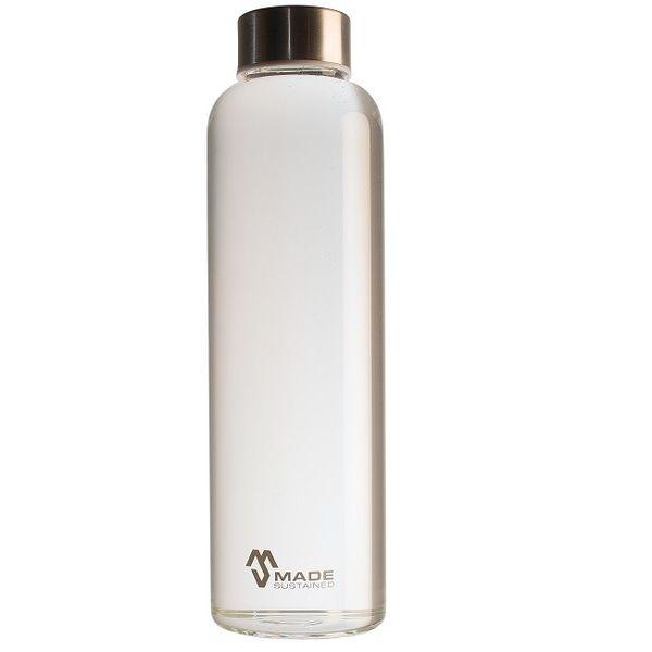 Glasflasche als Trinkflasche 500ml mit Schraubverschluss von Made Sustained.