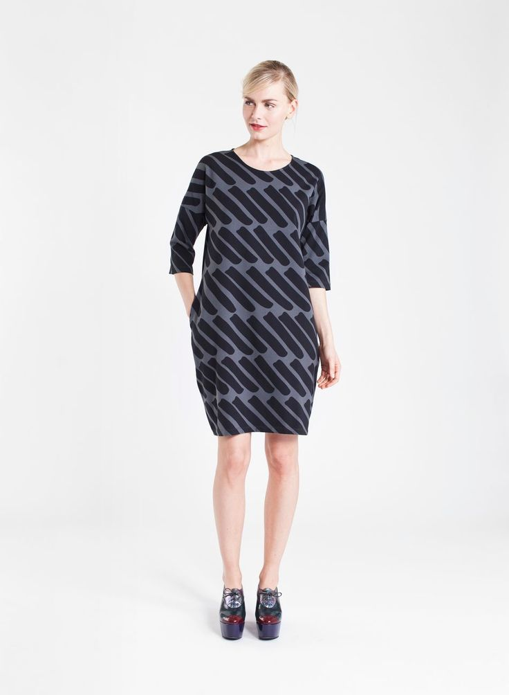 Presto-mekko (harmaa, musta) |Vaatteet, Naiset, Mekot ja hameet | Marimekko