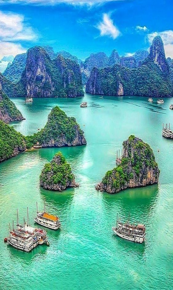 Ha Long Bay #travel #adventure #vacation #holiday #travelphotography #tour #tourism #flight #easyjet #trips #overseastravellers … | Lugares Fantásticos
