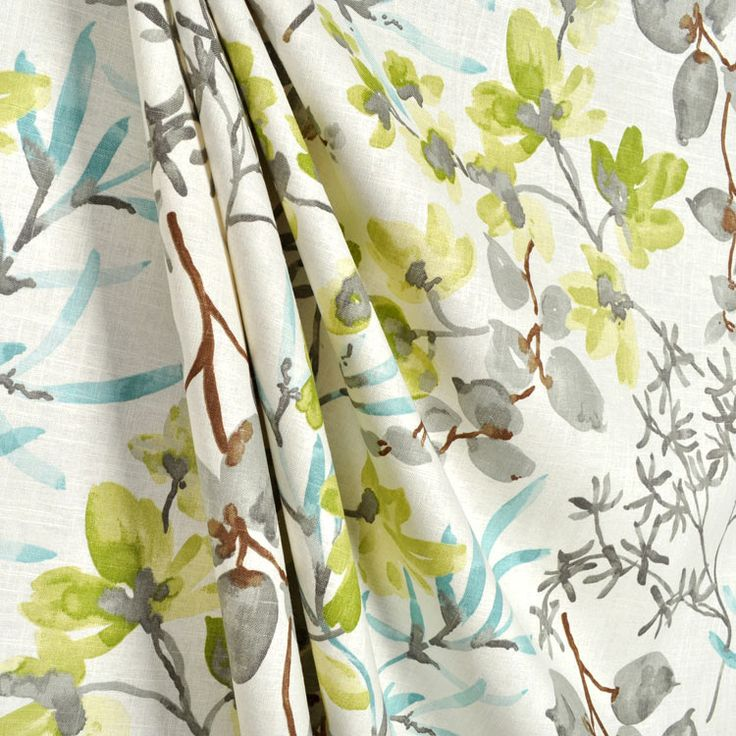 Gazebo Cloud Fabric By Braemore For Blue Gray And Turquoise Rooms