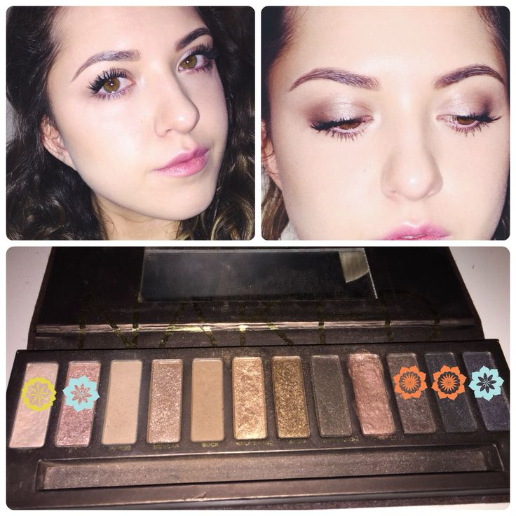 Naked Palette  Virgin-inner corner highlight  Gunmetal&sin-all over lid  Buck-crease  Creep&hustle-liner/lash line  Used a mix of creep,hustle and buck for lower lash line. As a brow bone colour I used foxy from naked basics pallet. Added mascara and false lashes