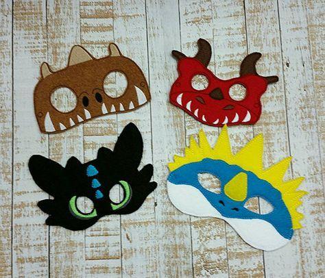 Desdentado Stormfly máscara Vestido de máscara de por MTBrownBear