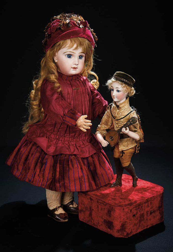 French Bisque Bebe Jumeau with Dramatically Deep Paperweight Eyes , antique silk and velvet costume. 3200/3800