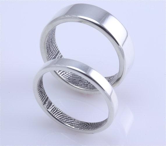 Fingerprint engagement rings!