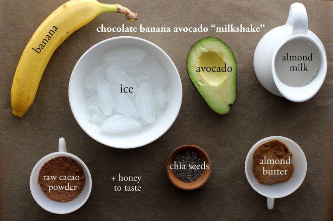 This Chocolate Banana Avocado Milkshake is #dairyfree and #glutenfree. Just use avocado and almond milk in place of milk or ice cream for a creamy texture! Recipe by @Erin | Meaningful Eats