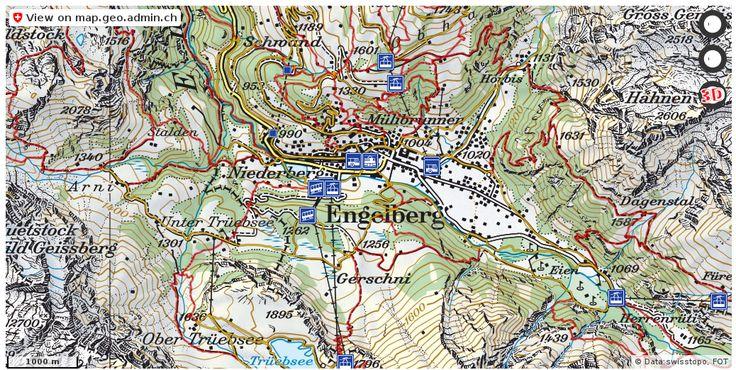 Engelberg OW Wanderwege Karte trail http://ift.tt/2qIkcx7 #dataviz #Cartography