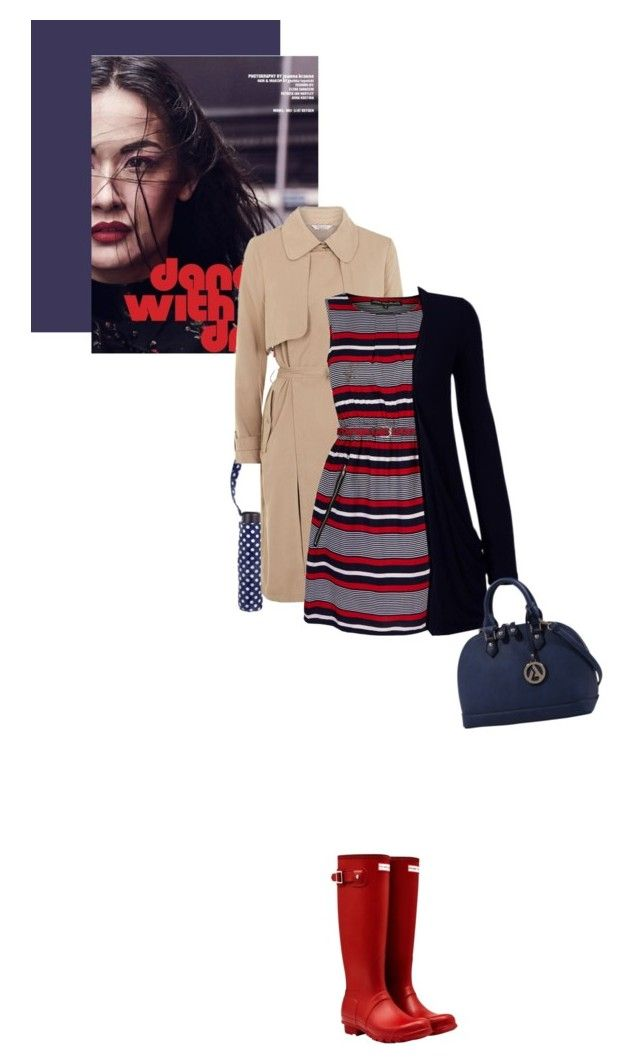 """""""Rainy Day Style"""" by fashionbrownies ❤ liked on Polyvore featuring Hunter, Oasis, Fashion Union, Mela Loves London, WearAll and rainydaystyle"""