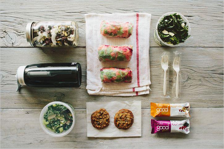 homemade travel snacks.