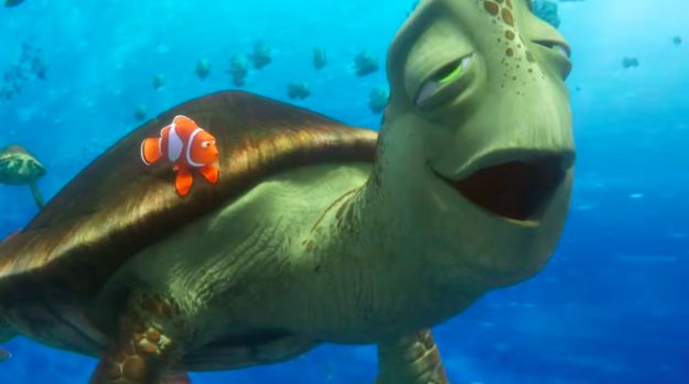 "Also CRUSH is back. | The Full Trailer For ""Finding Dory"" Is Finally, Finally, Finally Here"