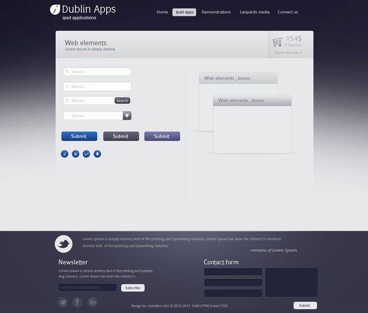 Dublin iPad Apps – Web Elements