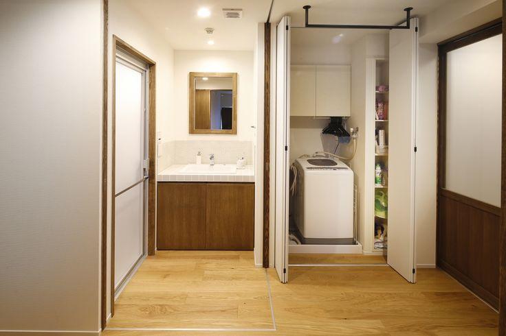 リフォーム・リノベーションの事例|洗面|施工事例No.485無垢材と珪藻土の質感が心地よい。光と風がたっぷり届く引戸の暮らし|スタイル工房