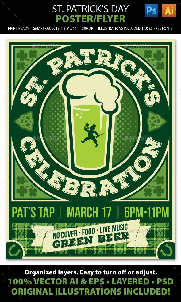 st  patrick u2019s day poster  flyer or ad