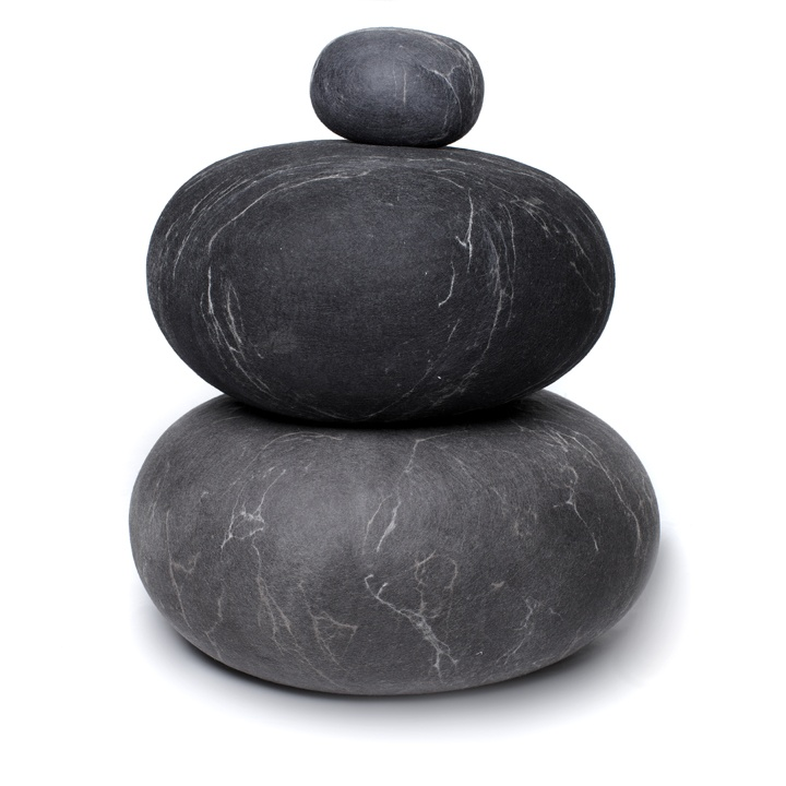 Charcoal U0026 Dark Grey Rock Cushions