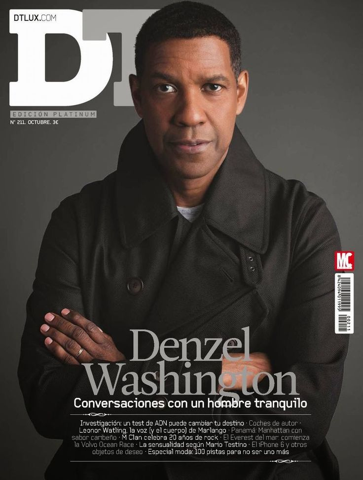 Denzel Washington para DE Lux Magazine Octubre 2014