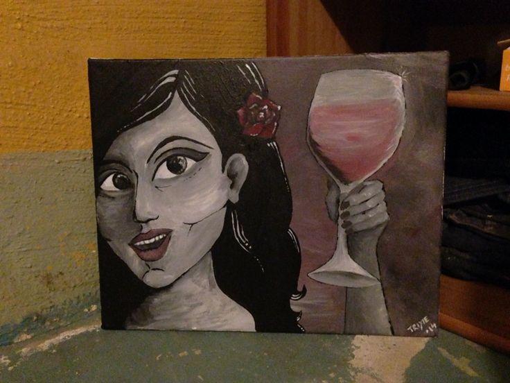 tavla i akryl på canvas