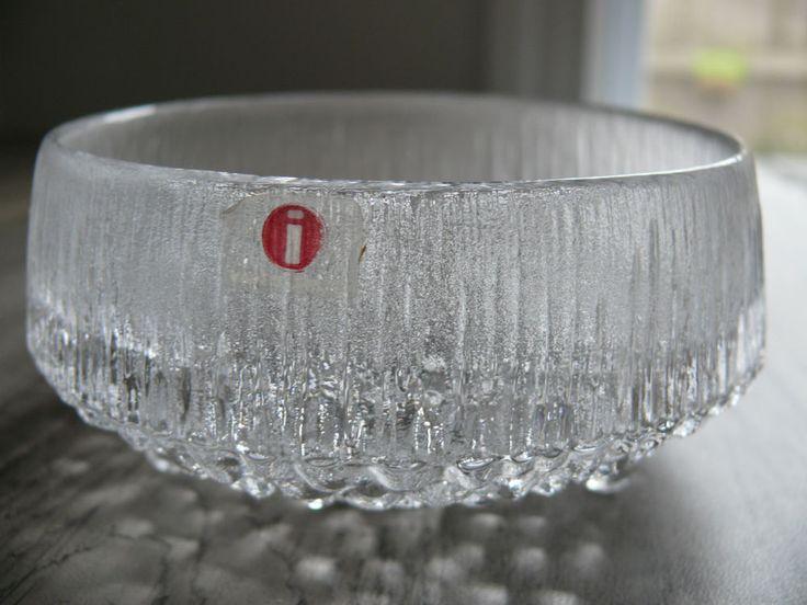 Iittala Finland Ultima Thule Line Footed Bowl Design Taipo Wirkkala Nut Bowl