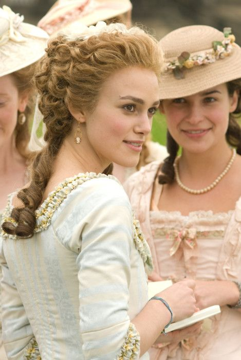 """Keira Knightly portrays the character of Georgiana Cavendish in the movie """"The Duchess""""........."""