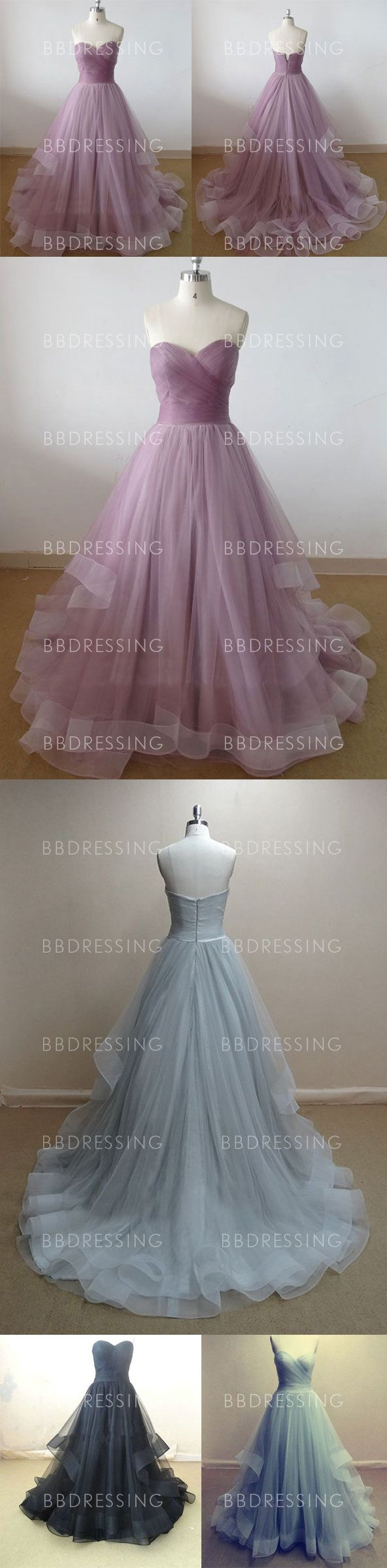 2016 New Strapless Prom Dresses Sweetheart A Line Tulle Prom Dresses pst0024 on Storenvy