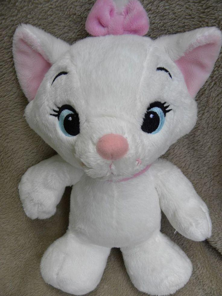 Disney Marie Aristocats Cat Plush Soft Toy Pink Bow