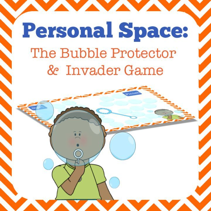 """Do you have a student who doesn't understand the tricky social norms of personal space? This student is always walking too close in line, standing too close, sitting too close, and causing anxiety in others. Perhaps you have a class full of students who are always """"too close"""" and one little kiddo who has an enormous personal bubble that he doesn't want his friends near! How do you teach your class to respect other's invisible personal bubble?"""