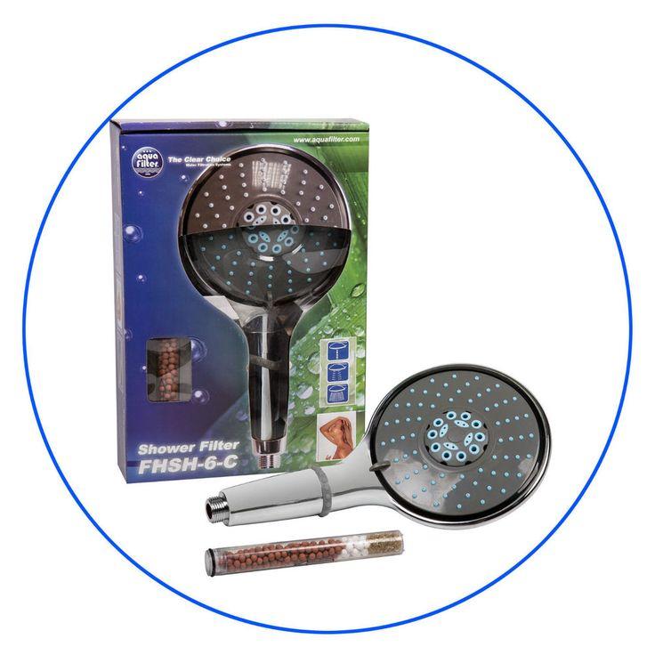 Shower Head Filter AQUA FILTER Chrome Plated Shower Head BRAND NEW Made in E.U. #AQUAFILTER