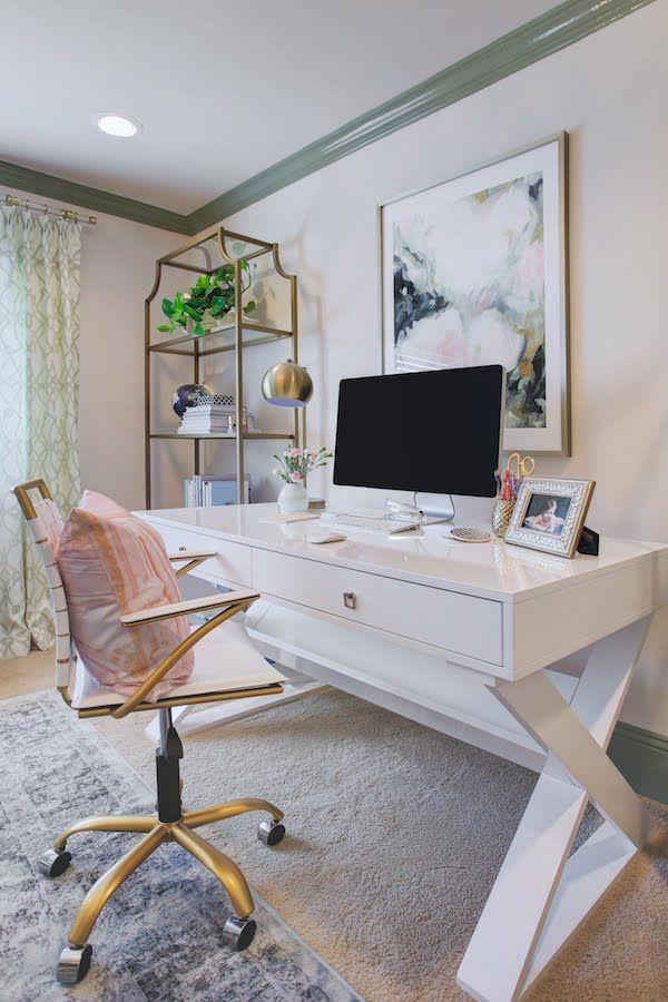 Home Office Modern best 25+ feminine home offices ideas on pinterest | home office