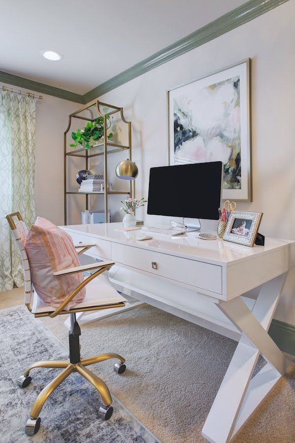 Sophisticated Feminine Home Office Honey We Re Home Sita Montgomery