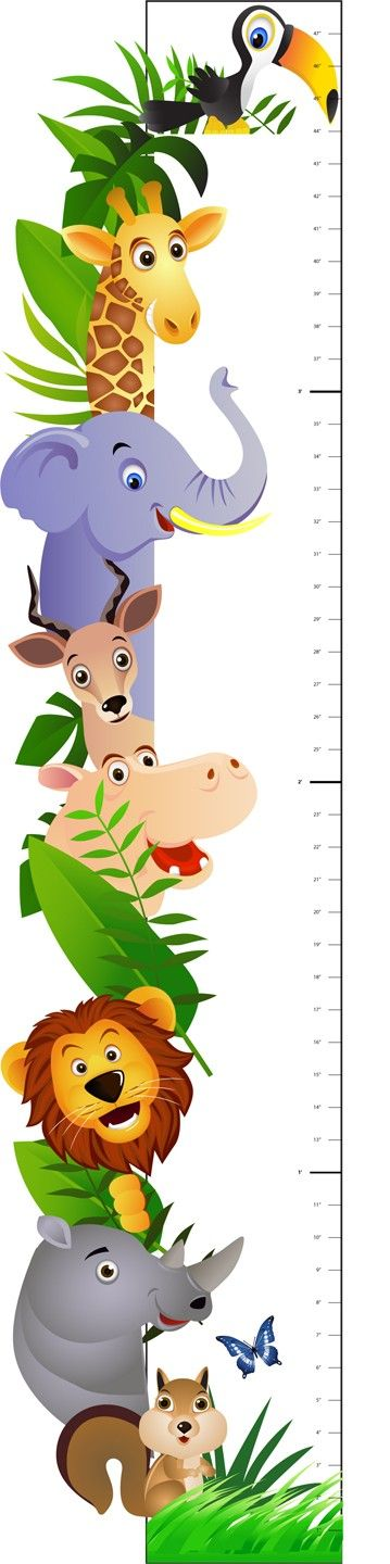 Deluxe Safari Animal Growth Chart Vinyl Wall or by WilsonGraphics, $45.00