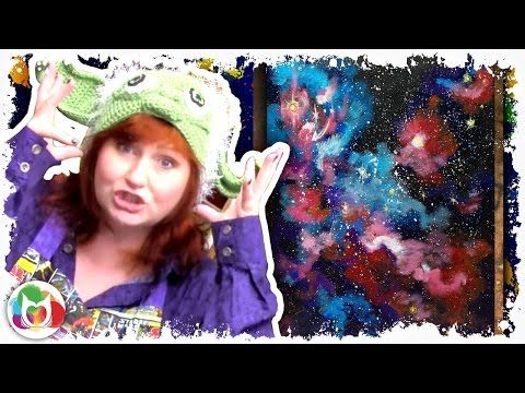 How to paint Galaxy of Dreams beginner step by step painting lesson of space - YouTube