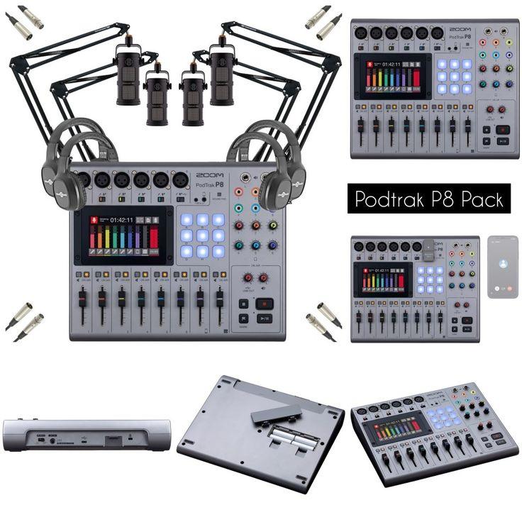 Le Pack Zoom Podtrak P8 Une Pepite Pour Les Curieux In 2020 Audio Audio Mixer Quad