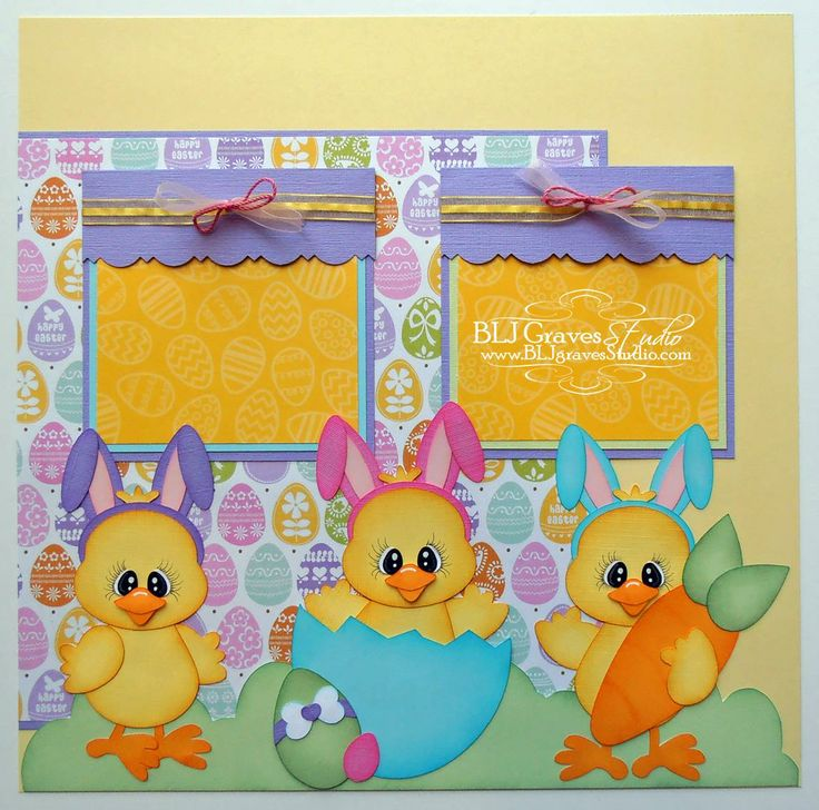 BLJ Graves Studio: Hangin With My Peeps Easter Scrapbook Page