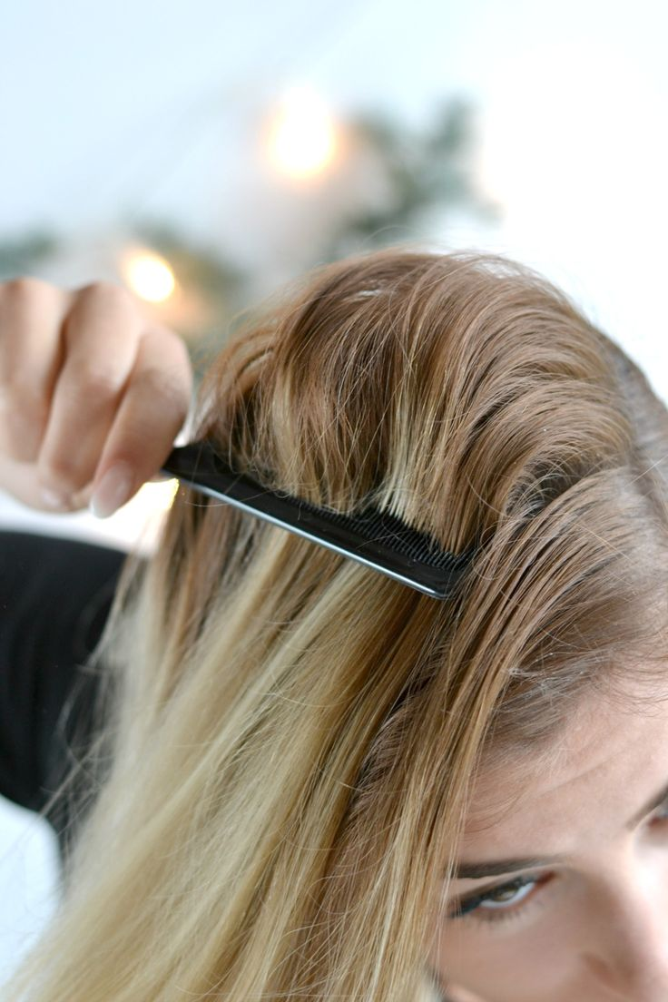 Beauty: Drei festliche Frisuren mit Braun Satin Hair 7 - Frisur Nr. 3 Fischgrätenzopf wird zum Dutt - mehr Volumen #festlich #frisuren #beauty #tutorial #braun #weihnachten #christmas