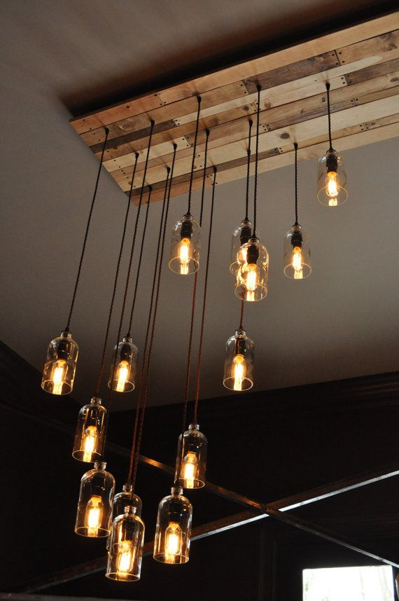 The New Yorker Recycled Bottle Custom Chandelier от MoonshineLamp  Decor ideas ...