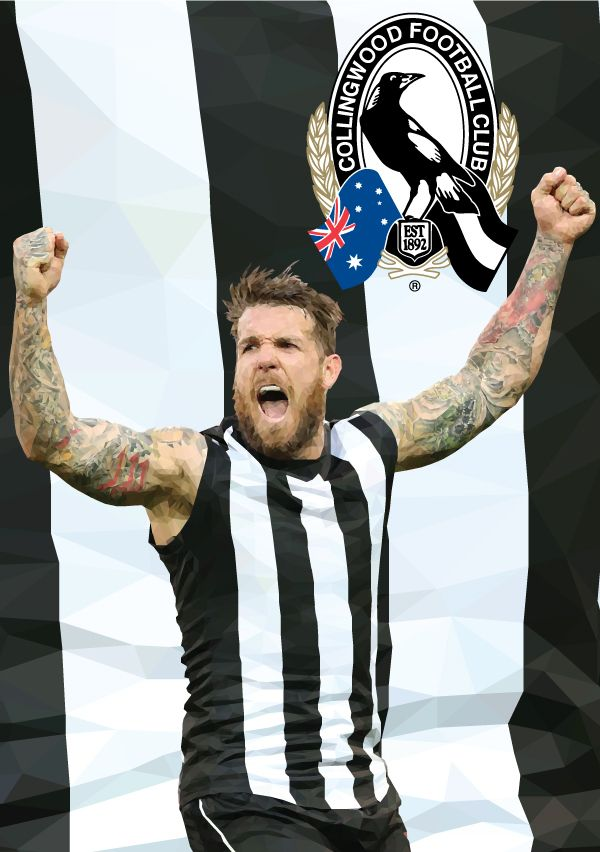 Dane Swan Collingwood Football Club AFL By Ross McRae Design