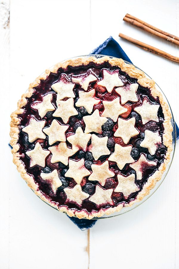 A patriotic fourth-of-July triple berry pie made simple with easy ingredients! Hey everyone! Chelsea back from Chelsea's Messy Apron. The fourth of July is one of my family's favorite holidays so I'm already getting geared up with all the food. I recently shared some 4-ingredient Patriotic Flag Bark on my site and then made this …