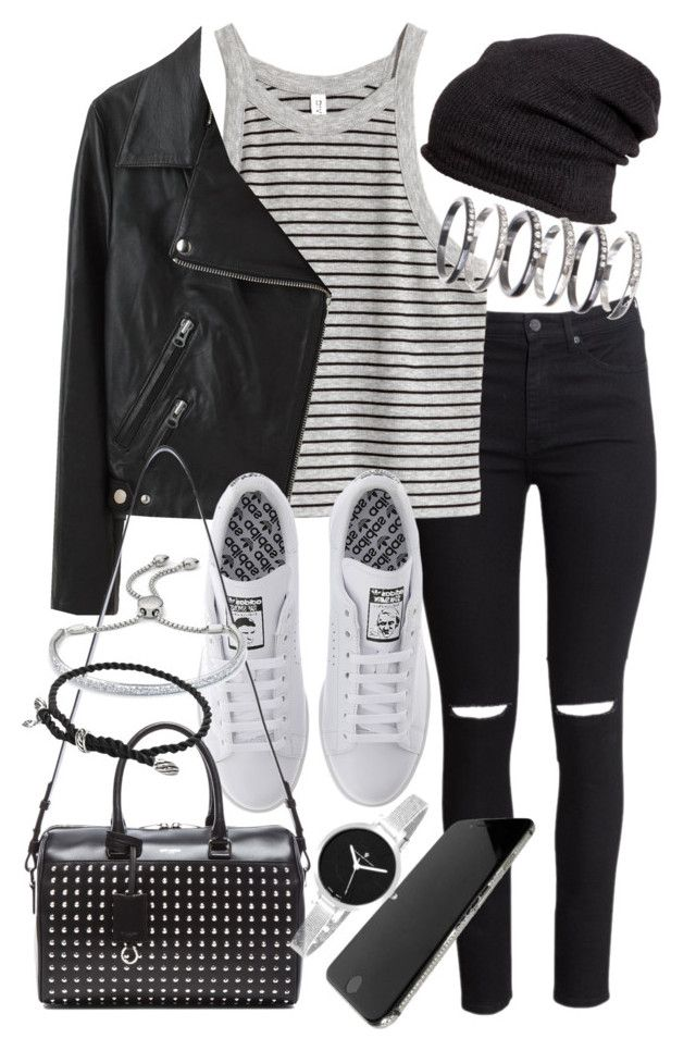 """""""Untitled #19053"""" by florencia95 ❤ liked on Polyvore featuring H&M, M.N.G, Acne Studios, adidas, Yves Saint Laurent, Monica Vinader, David Yurman and Christian Van Sant"""