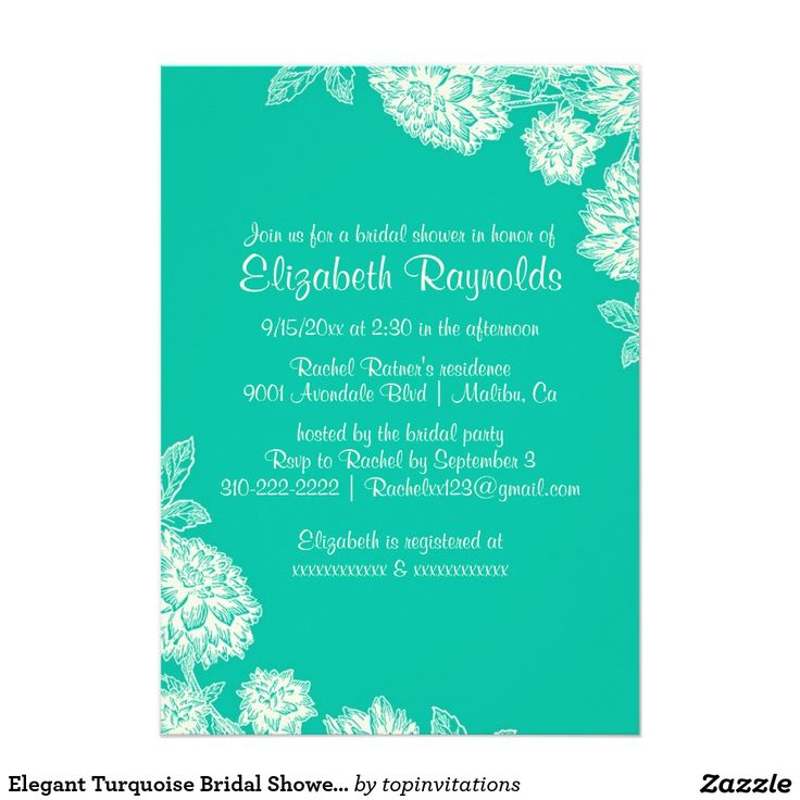 Best 25 Turquoise Bridal Showers Ideas On Pinterest Bridal