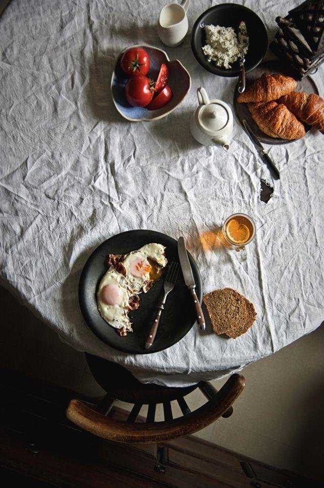 Breakfast | Dark, moody food photography