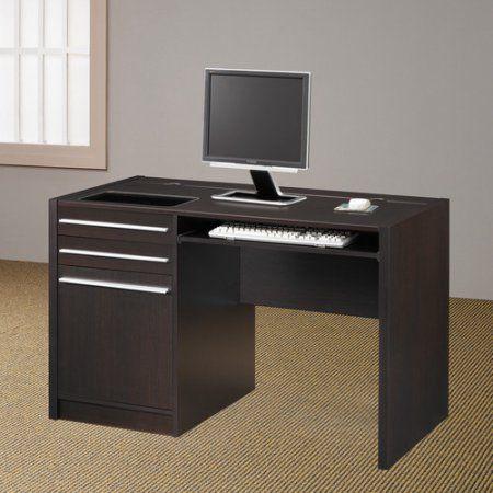 Coaster Company Connect It Desk, Cappuccino/Silver, Brown