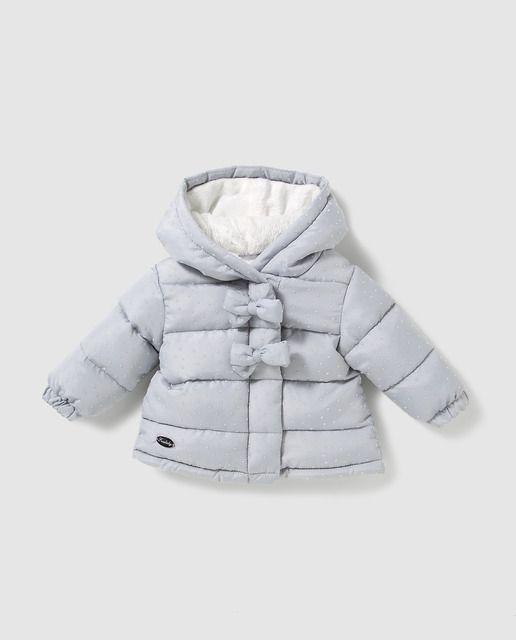 62bec164e Parka de bebé niña Freestyle en gris con lazos en 2019   Ropa mis ...
