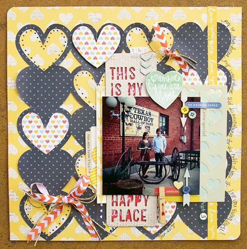 Scrapbook layout using *American Crafts* Dear Lizzy Lucky Charm - Scrapbook.com