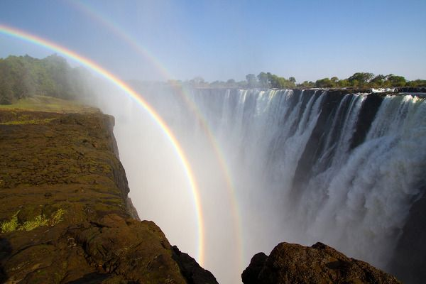 Double Rainbow    by David Swindler  Victoria Falls