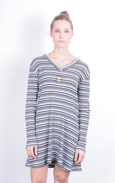 Warner Bros. Women's M Dress Cotton Tweety Striped V Neck - RetrospectClothes