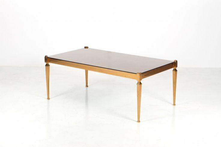 table basse n oclassique laiton maison jansen ann es 50. Black Bedroom Furniture Sets. Home Design Ideas